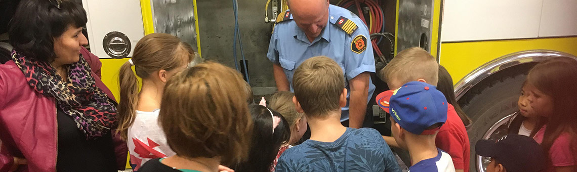 Community Leaders - Fireman with Children